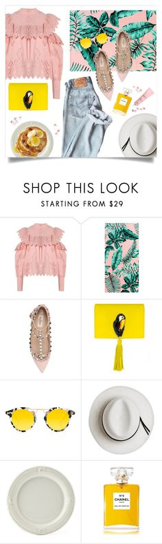 """Holiday"" by brynhawbaker ❤ liked on Polyvore featuring Sea, New York, PBteen, Valentino, Nach Bijoux, Krewe, Calypso Private Label, Juliska and Chanel"