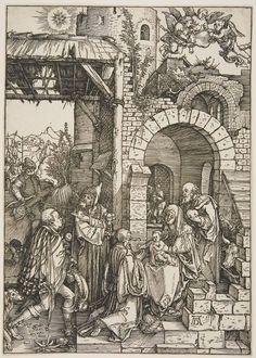 Albrecht Dürer Adoration of the Magi Germany (c. 1515) Woodcut/Print, 29.9 x 21 cm.