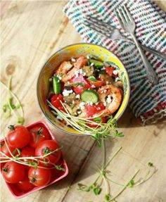 grilled shrimp mediterranean salad by Stephie83