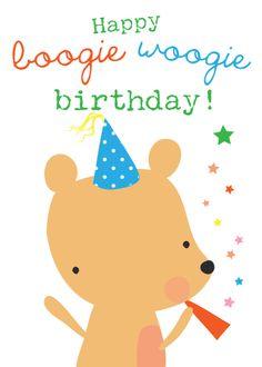 boogie bears card by lizzie mackay
