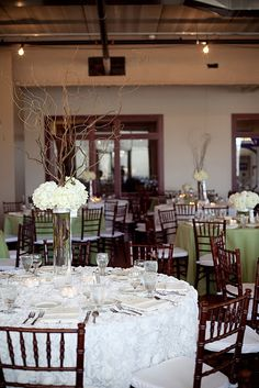 curly willow and hydrangeas