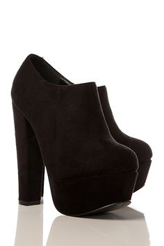 Suedette Platform Ankle Boots £5