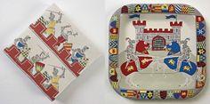 Meri Meri Brave Knights Paper Plates and Napkins Set $10.00