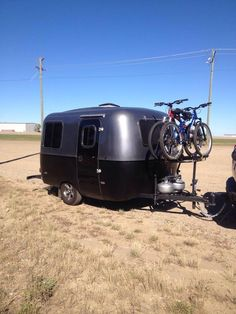 Silver black bike rack boler.