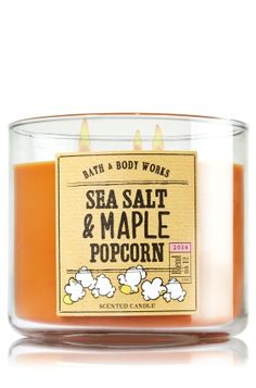 Sea Salt & Maple Popcorn 3-Wick Candle - Slatkin & Co. - Bath & Body Works