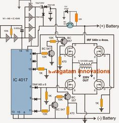 H-Bridge Inverter Circuit Using 4 N-channel Mosfets Simple Electronics, Hobby Electronics, Electronics Projects, Led Projects, Circuit Projects, Class D Amplifier, Audio Amplifier, Electric Fence Energizer, Power Supply Circuit