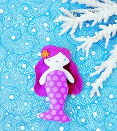 Mermaid mini doll - A Wee Wonderfuls World - The Crafts Dept.