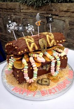 clever splendor: #treasure chest #pirate #cake