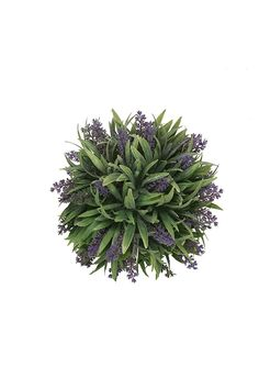 9' Artificial Lavender Ball Purple (pack of 4) Indoor Outdoor Plant ** Read more reviews of the product by visiting the link on the image.