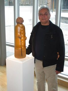 """One the the first graduates of the Institute of American Indian Art (IAIA), Peter B. Jones' 45 year career as a contemporary ceramic sculpture artist has evolved into one of the """"most recognized and accomplished Iroquois artists working today."""" - From Facebook - https://www.facebook.com/pages/Native-Man/365939090146674"""