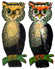 Luhrs and Beistle Large Owls by halloween_guy, via Flickr