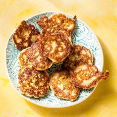 Courgettepannenkoekjes met komijn en kaas