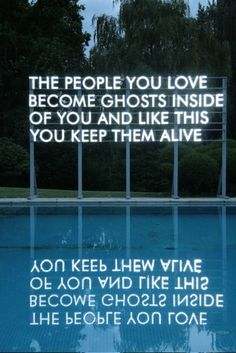 'The People You Love' installation by Robert Montgomery.