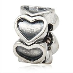 Love Hearts Authentic Sterling Silver Charms