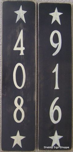 Custom Vertical Custom House Address Number Sign Plaque Personalized HP Wood You Pick Color Vertical OR Horizontal