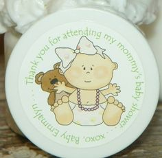 Baby Girl with Pearls & Teddy Whipped Body Butter Baby Shower Favors