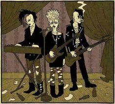 a goth band in 1984 by the-black-cat on DeviantArt 80s Goth, Punk Goth, Foto Cartoon, Dark Wave, Arte Punk, Goth Look, Goth Style, Goth Bands, Goth Subculture