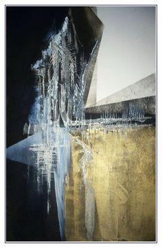"©yama-bato,""grand fir"" 2   mixed media on paper"