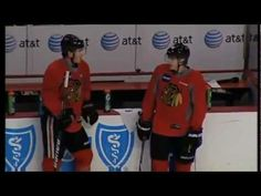 Jonathan Toews and Patrick Kane Bromance. Nuff said