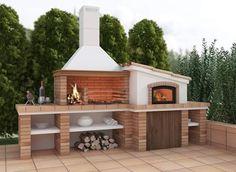 backyard design – Gardening Tips Outdoor Grill, Outdoor Bbq Kitchen, Pizza Oven Outdoor, Outdoor Kitchen Design, Outdoor Barbeque Area, Brick Oven Outdoor, Outdoor Dining, Backyard Patio Designs, Backyard Bbq