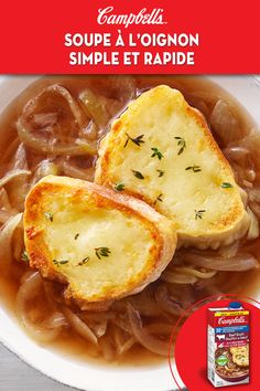 Ideas Recette Brunch Maison For 2019 Onion Soup Recipes, Veggie Recipes, Vegetarian Recipes, Cooking Recipes, French Soup, My Favorite Food, Favorite Recipes, Soup And Sandwich, Gastronomia
