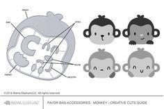 Favor Bag Accessory - Monkey - Creative Cuts