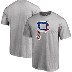 Pittsburgh Pirates Fanatics Branded Banner Wave Logo T-Shirt - Heathered Gray