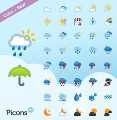 40 Free Weather Forecast Icon Sets Weather Icons, Weather Forecast, App Icon, Weather Conditions, Icon Set, Web Design, Palette, Paper, Free