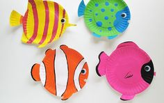 Hot to Make Tropical Fish Out of Paper Plate | The Art 123