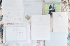 Handmade paper, wax seal, heirloom invitation style