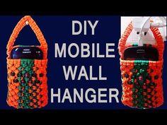 How to make macrame mobile charging hanger   Macrame Art - YouTube