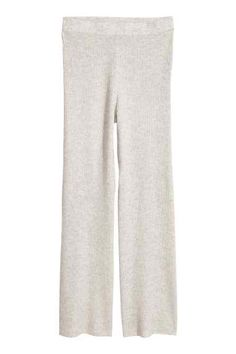 official photos 1030c fbd96 Pull-on cashmere trousers - Dark grey marl - Ladies  HM GB