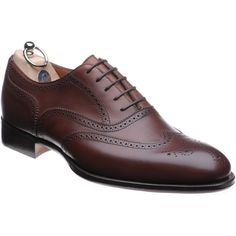 Hunt is a classic brogue style hand made in Northamptonshire England. The finest French and Italian upper leathers have been carefully selected and sorted before being cut by the master clickers then sewn together with stunning detail by the close