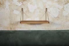 Shelf | Oak / Brass | Design by Frama | Photographed by Michael Falgren