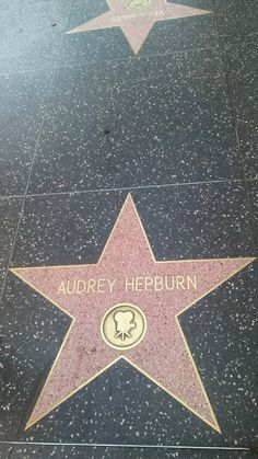 Audrey Hepburn's star on the Hollywood Walk of Fame!!!