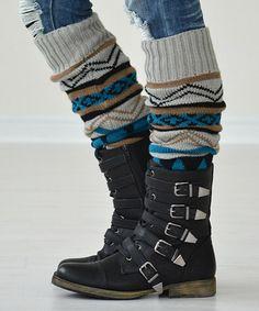 Love this Light Gray Tribal Leg Warmers on #zulily! #zulilyfinds