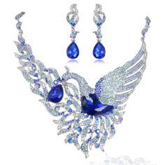 Swan Tear Drop Sapphire September Birthstone Necklace Earrings Set Silver-Tone Ever Faith,http://www.amazon.com/dp/B00CJ85FT2/ref=cm_sw_r_pi_dp_8YWWsb1NF5WBJXZE
