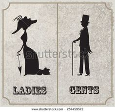 classy restroom signs - Google Search