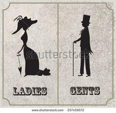 Bathroom Sign Man And Woman bathroom restrooms sign men women lipsvinylwalllettering
