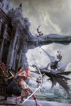 This HD wallpaper is about Final Fantasy XIII, Serah Farron, Noel Kreiss, Caius Ballad, Original wallpaper dimensions is file size is Arte Final Fantasy, Final Fantasy Artwork, Final Fantasy Characters, Fantasy Series, Fantasy World, Final Fantasy Collection, Manga, Game Art, Finals