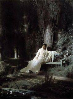 Moonlight night by Ivan Kramskoy (GTG) - イワン・クラムスコイ - Wikipedia