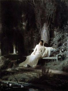 "Ivan Kramskoy: ""Moonlight night"", 1880, oil on canvas, State Tretyakov Gallery."