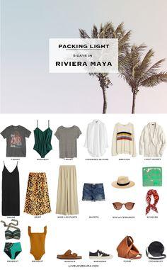 Riviera Maya, Travel Wardrobe, Capsule Wardrobe, Summer Packing Lists, Plus Swimwear, Outfits For Mexico, Cancun, Travel Capsule, Travel Outfit Summer