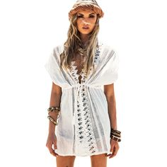 Find More Cover-Ups Information about Saida De Praia 2016 Fashion Women's Beach Tunic Dress Sexy Beach Bikini Cover Up Swimsuit Cover Up White Beachwear,High Quality bikini 2007,China bikini stock Suppliers, Cheap bikinis for big busted women from TOOOU follow your heart on Aliexpress.com