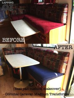 The secret to reupholstering your caravan seat cushions for less than $100