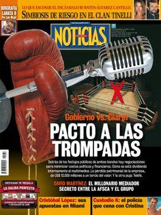 El pacto Clarín-Kirchner en la tapa de revista Noticias que sale esta noche.