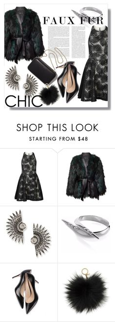 """Chic Faux Fur"" by ellenawaters ❤ liked on Polyvore featuring Alice + Olivia, Balmain, Lulu Frost, Sonal Bhaskaran and Michael Kors"