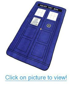 Exclusive Doctor Who TARDIS Throw Blanket Home #Office #Blankets # #Rugs #Towels