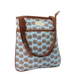 Blou en Bruin Sling Handsak/ Blue and Brown Messenger bag
