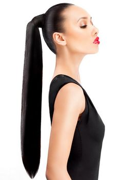 Clip In Ponytail Hair Extensions Weave Ponytail Hairstyles, Sleek Hairstyles, Summer Hairstyles, Straight Hairstyles, Types Of Hair Extensions, Hair Extensions For Short Hair, Clip In Ponytail, Sleek Ponytail, Hair Ponytail